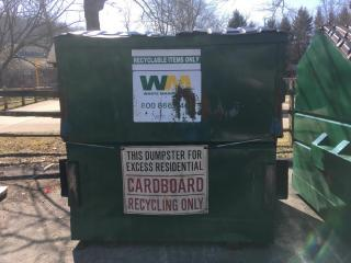 Cardboard dumpster